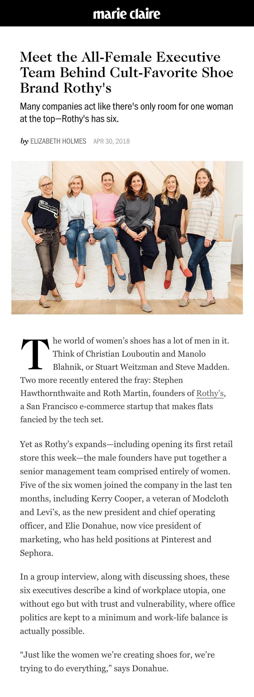 Just like the women we're creating shoes for, we're trying to do everything