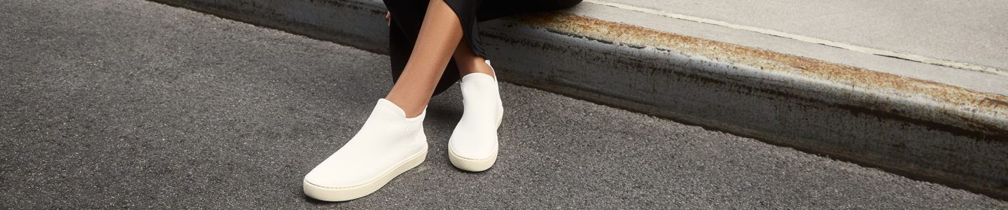 The Chelsea in Bright White shown on-model.