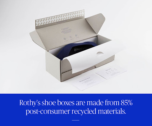 Rothy's shoes in their box