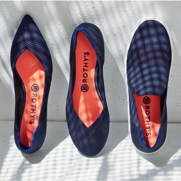 The Lattice Stitch Point, Flat and Sneaker shown side by side.