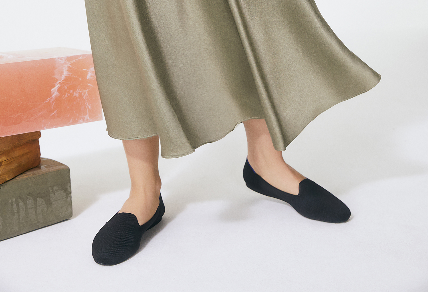 The Loafer in Black shown on-model in a set.